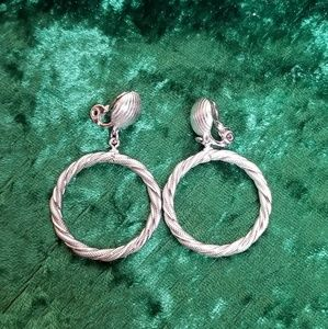 Silver Hoop Clip-On Earrings